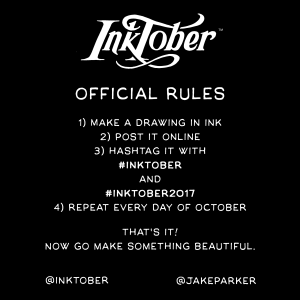 official Inktober 2017 Rules from Jake Parker